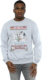 Disney Men's 101 Dalmatians Retro Poster Sweatshirt