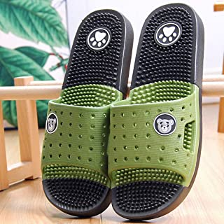 Foot Massage Sandals for Women's Families Summer Couple's Home Indoor Bathroom Antiskid Soft Bottom Slippers For Men In Summer (Color : E, Size : 25cm(9.84inch))