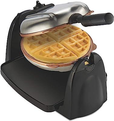 Hamilton Beach 26031 Belgian Waffle Maker with Removable Non-Stick Plates, Ceramic Grids, Black