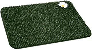 Clean Machine Flair Small Daisy 18-Inch X 24-Inch Scraper Astroturf Door Mat