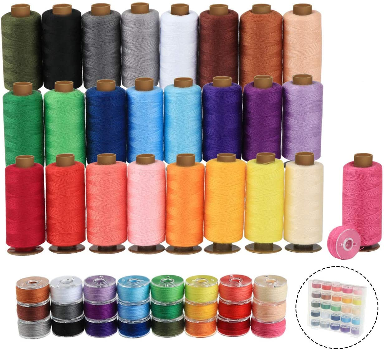 LBDK 715-1 bobbin of thread for sewing any textiles very resistant thread Polyester 100 meters yellow Multi-purpose