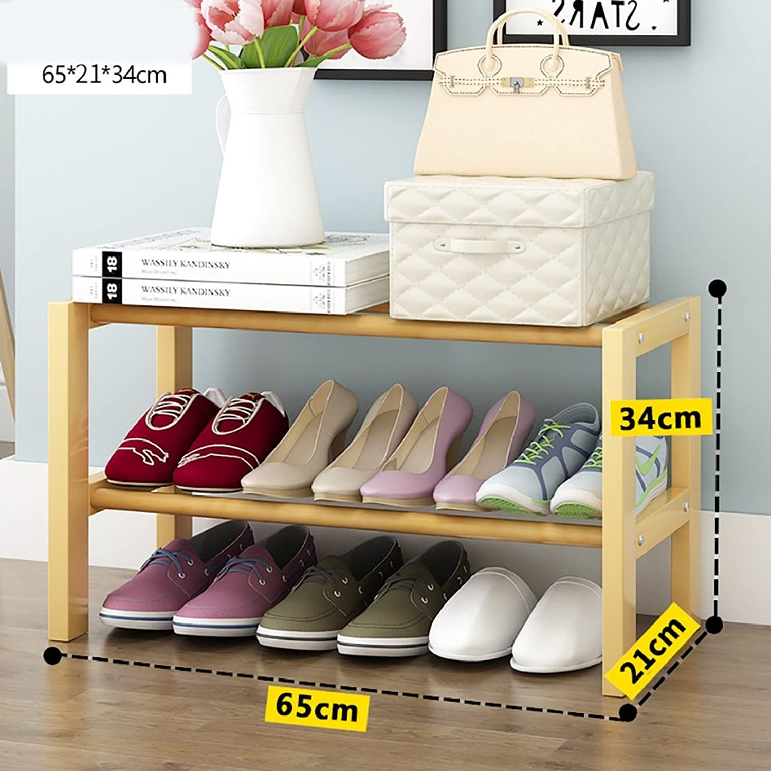 shoes Bench Organizing Rack Small Household shoes Rack shoes Rack Multi-Functional dust-Resistant shoes Rack Household Economy Shelves (Size   65cm)