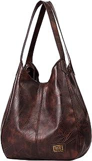 Shoulder Bags for Women Soft Leather Hobo Bags 3 Compartment Large Capacity Handbag Multiple Pocket Tote Bag