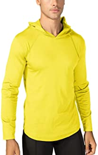 Men's Sun Protection Long Sleeve T-Shirt UPF 50+ Performance Running Shirts with Hood