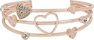 Heart Multi Row Cuff Bracelet