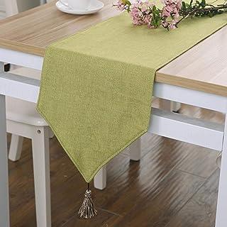 Xiaoahua Nappe Solide Moderne fête de Mariage décoration Tissu Bambou carvas Tissu Chemin de Table Couverture en Tissu 30X...