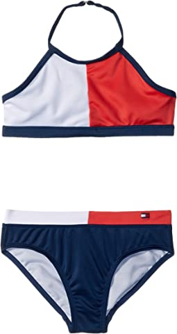Tommy Hilfiger Kids Flag Two-Piece Swimsuit (Toddler)