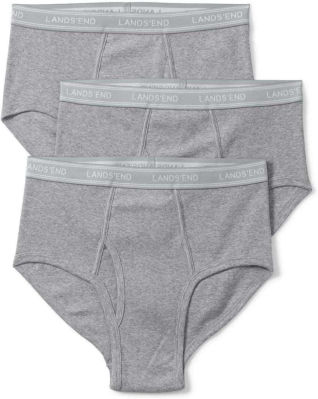 Lands' End Men's Knit Underwear 3 Pack - Briefs