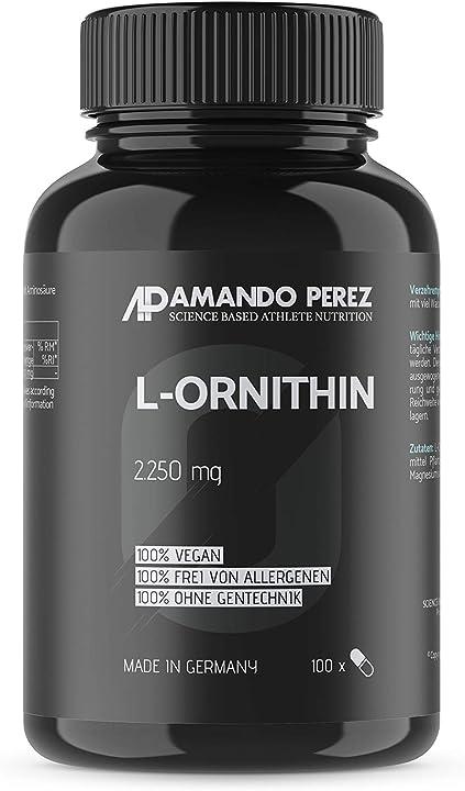 Anabolizzanti naturali per atleti ambiziosi e culturisti l-ornitina 2250 mg - 100 capsule - aminoacidi AP1188
