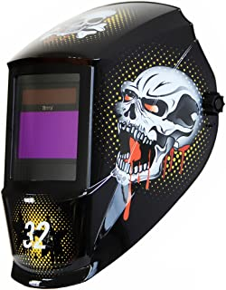 Antra Welding Helmet AH7-360-7321 Auto Darkening, Dual Power Solar+ Battery, Wide Shade Range 4/5-9/9-13 with Grinding 6+1 Extra Lens Covers Stable for TIG MIG MMA Plasma