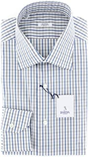 Barba Napoli Stripes Button Down Spread Collar Cotton Slim Fit Dress Shirt
