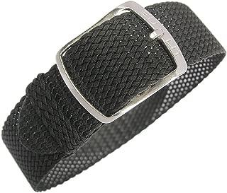 Kristall 20mm Black Perlon Watch Strap