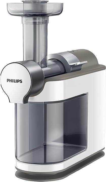 Estrattore di succo con tecnologia micro masticating philips estrattori microjuicer hr1894/80