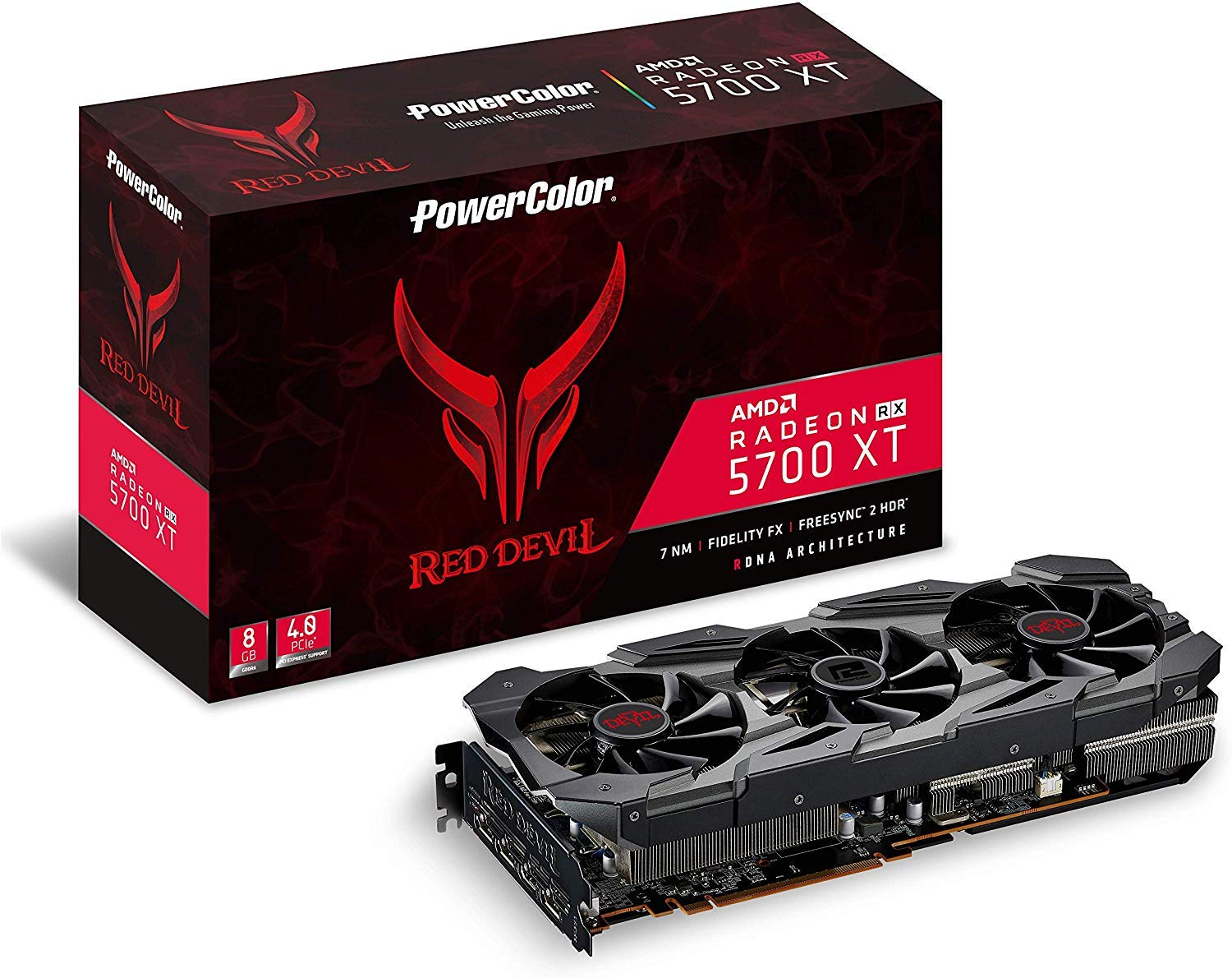 PowerColor AMD Radeon RX 5700 XT Red Devil 8GB GDDR6 HDMI/3xDP ...
