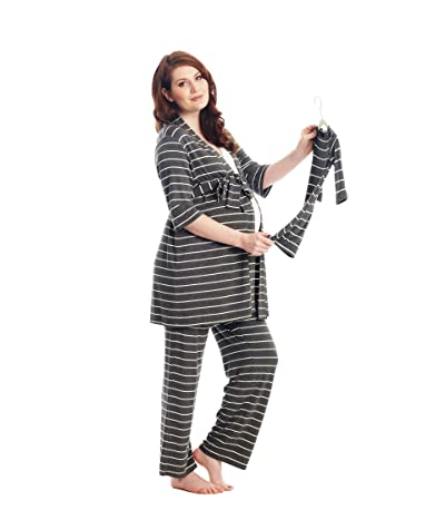 Everly Grey Analise Maternity/Nursing Mommy Me Five-Piece PJ Set (Charcoal) Women