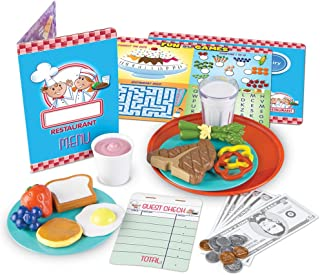 Learning Resources Serve It Up! Play Restaurant, Pretend Restaurant Set, 35Piece, Ages 3+