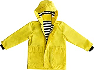 Seeduck Boys Girls Waterproof Hooded Cotton Lined Rain Jackets