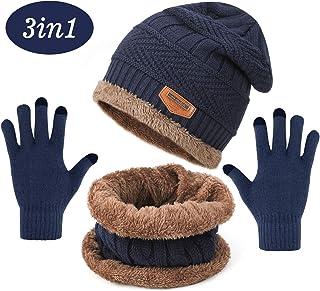 MFAZ Morefaz Ltd Femme Bonnet dhiver Tricot/ée la Tresse Style Women Ski Hat Ver Polaire Pom Pom