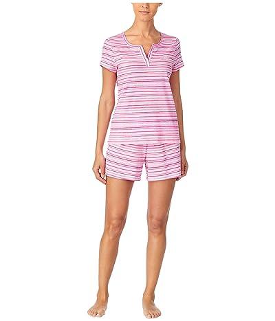 LAUREN Ralph Lauren Classic Knits Short Sleeve Split Neckline Boxer Pajama Set