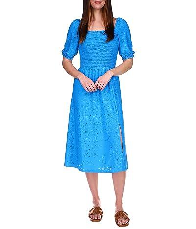 MICHAEL Michael Kors Lace Puff Sleeve Midi Dress