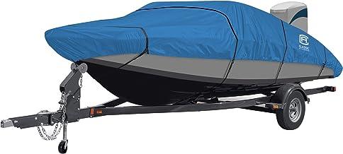 "Classic Accessories Stellex All Seasons Boat Cover, Blue, Fits 22' - 24' L x 116"" W"