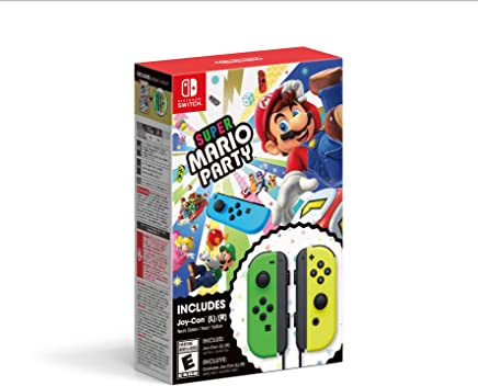 Super Mario Party with Joy-Con (Neon Green/Neon Yellow), Switch