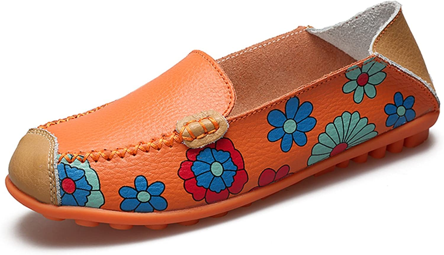 VenusCelia Women's Floral Comfort Walking Flat Loafer