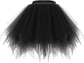 Bridesmay Women's Tutu Christmas Tulle Skirt 50s Vintage Ballet Bubble Dance Skirts