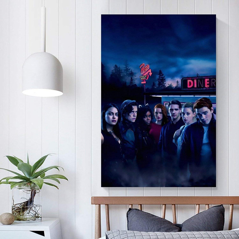 Riverdale 6 p/ósteres cl/ásicos de pel/ícula impresa en lienzo para decoraci/ón del hogar 30 x 45 cm