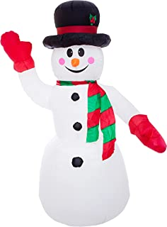 Athoinsu 8ft Lighted Christmas Inflatables Huge Snowman with Hat Self inflate Airblown Holiday Yard Decoration Outdoor (L)
