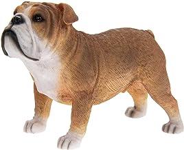 Figura de Bulldog británico Ornamen Dogt de Fawn and White