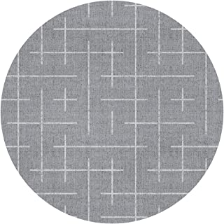 DIDIDI Maze Labyrinth Mid Century Modern Grey Non-Slip Round Circle Throw Area Ground Mat Accent Floor Party Bedroom Door Decorations Kitchen Bathroom Decor Welcome Entryway Rug Sign Ornament