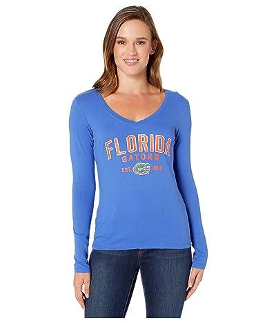 Champion College Florida Gators University Long Sleeve V-Neck Tee (Royal) Women