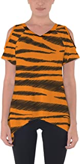 Rainbow Rules Tigger Stripes Winnie The Pooh Inspired Cold Shoulder Tunic Top