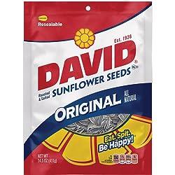 DAVID Roasted and Salted Original Sunflower Seeds, 14.5 oz