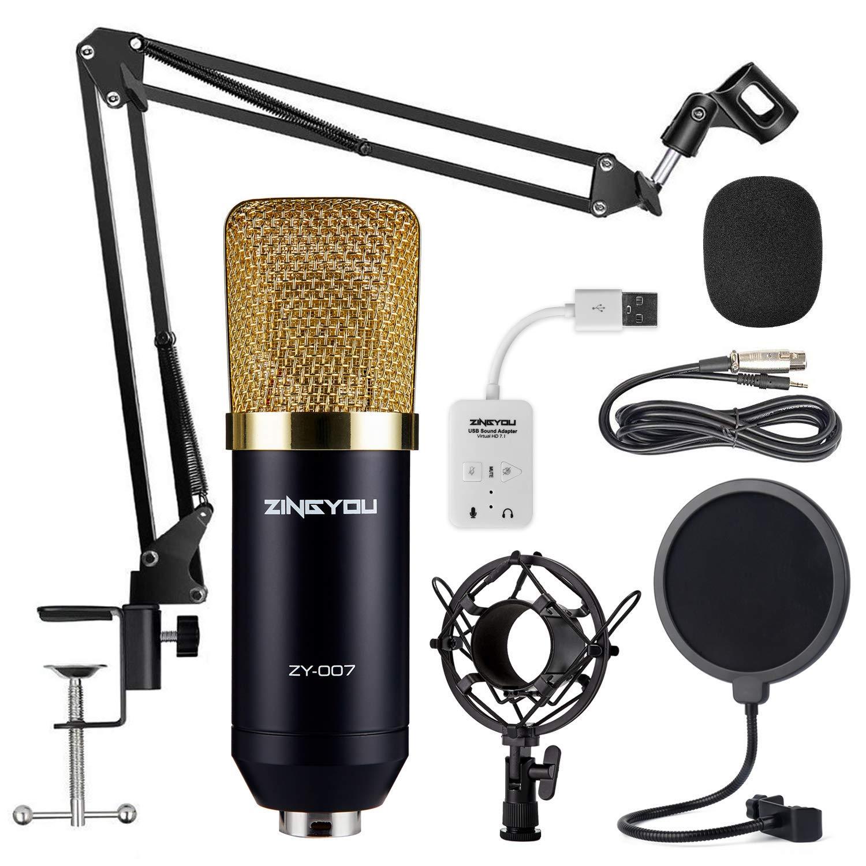 ZINGYOU Microphone Professional Adjustable Broadcasting