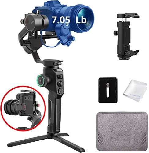 MOZA AirCross 2 Gimbal Handheld Stabilizer Lightweight Powerful Gimbals 12hours Runtime Up to 7.1Lbs for DSLR Mirrorl...