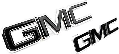 Truck Emblem Warehouse 2 New Custom Black & Chrome Yukon XL Denali 2015-2019 Grill Tailgate Set