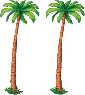 Beistle S55137AZ2 Jointed Palm Trees, 6', Green/Brown