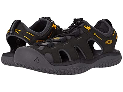 KEEN Solr Sandal (Black/Gold) Men