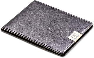 DUN Wallet for Men   Black Leather Mens Wallet with Golden Clip   Bifold Slim Wallet for Men   The world's thinnest leathe...