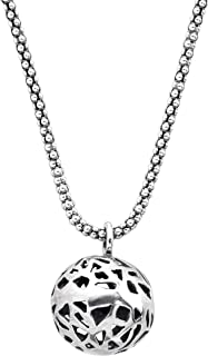 Less is Moiré' Spherical Cut-Out Pendant Necklace in Sterling Silver