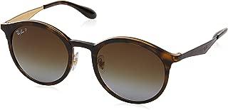 Women's RB4277 Emma Round Sunglasses, Light Havana/Polarized Brown Gradient, 51 mm