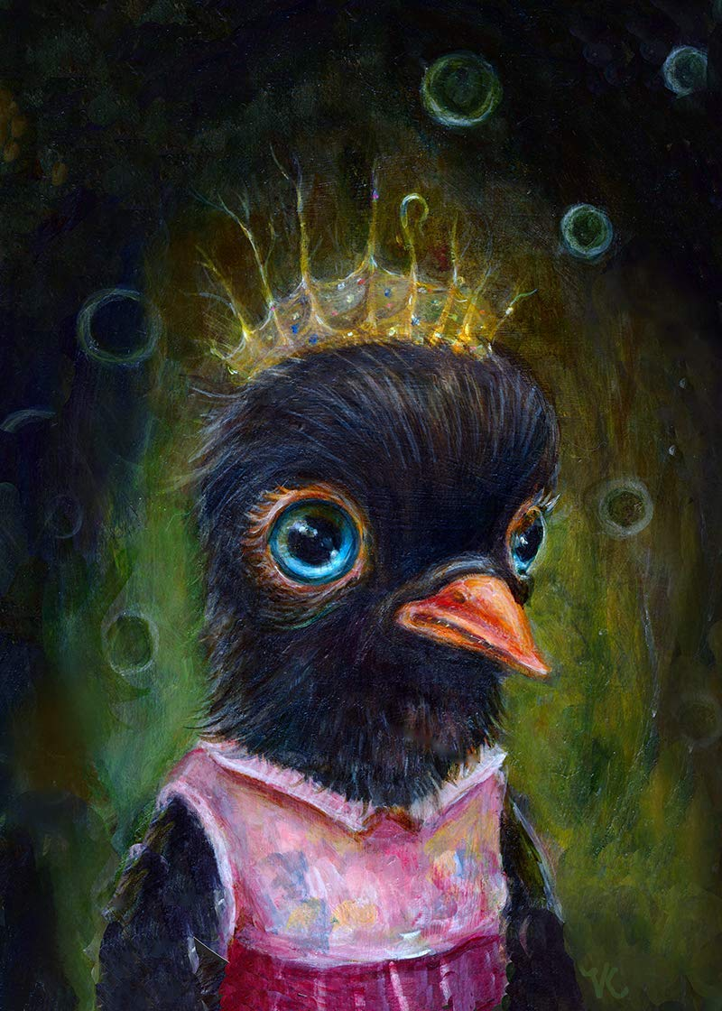 Whimsical Black Bird Crow Max 90% OFF Raven Art Pop Surrealism Ey trend rank Print Big