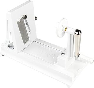 Benriner BN-7W-1 Mandoline Coupe-légumes en ABS Plastique sans BPA – Horizontal, Blanc, avec 3 interchangeables, Lames en ...