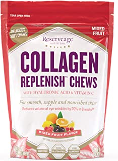 Reserveage, Collagen Replenish Chews, Skin and Nail Supplement, Supports Collagen and Elastin Production, Gluten Free, 60 ...