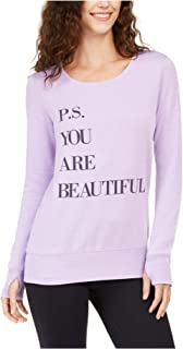 Ideology Womens Beautiful Athleisure Activewear Pullover Top