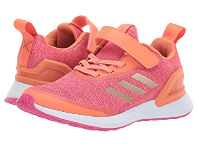 adidas Kids RapidaRun X EL (Little Kid) (Coral/Copper/Magenta) Girls Shoes