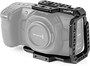 SMALLRIG BMPCC 4K/6K Half Cage Compatible with Blackmagic Pocket Cinema Camera 4K/6K, Half Cage with Anti-Twist Mechanism and Built-in NATO Rails - 2254
