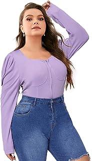 Women's Plus Size Long Sleeve Cardigan Button Down...